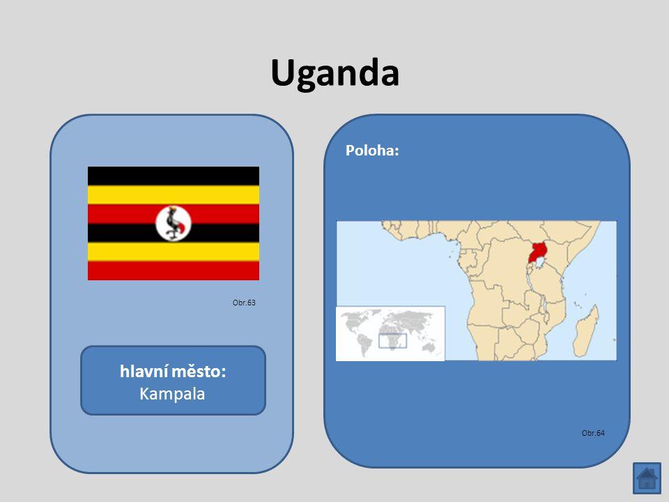 Uganda hlavní město: Kampala Poloha: Obr.63 Obr.64