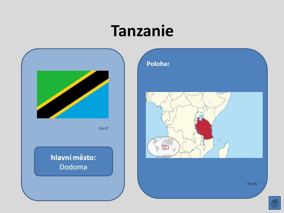 Tanzanie hlavní město: Dodoma Poloha: Obr.67 Obr.68