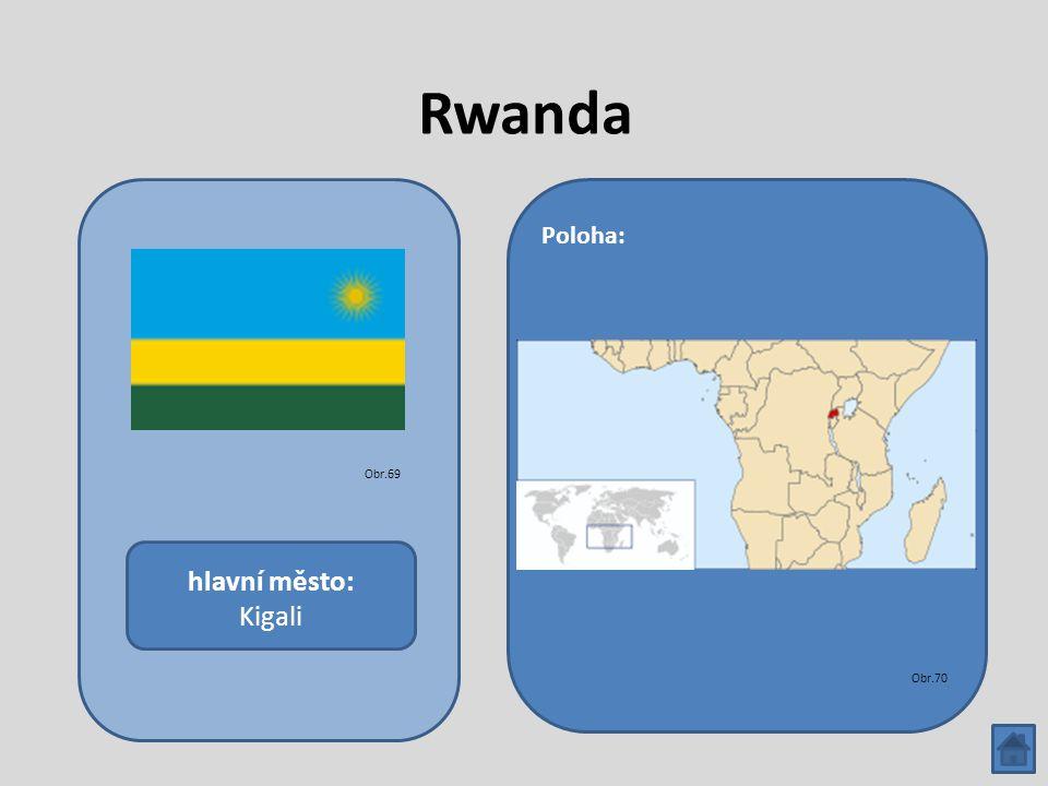Rwanda hlavní město: Kigali Poloha: Obr.69 Obr.70