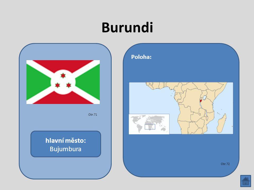 Burundi hlavní město: Bujumbura Poloha: Obr.71 Obr.72