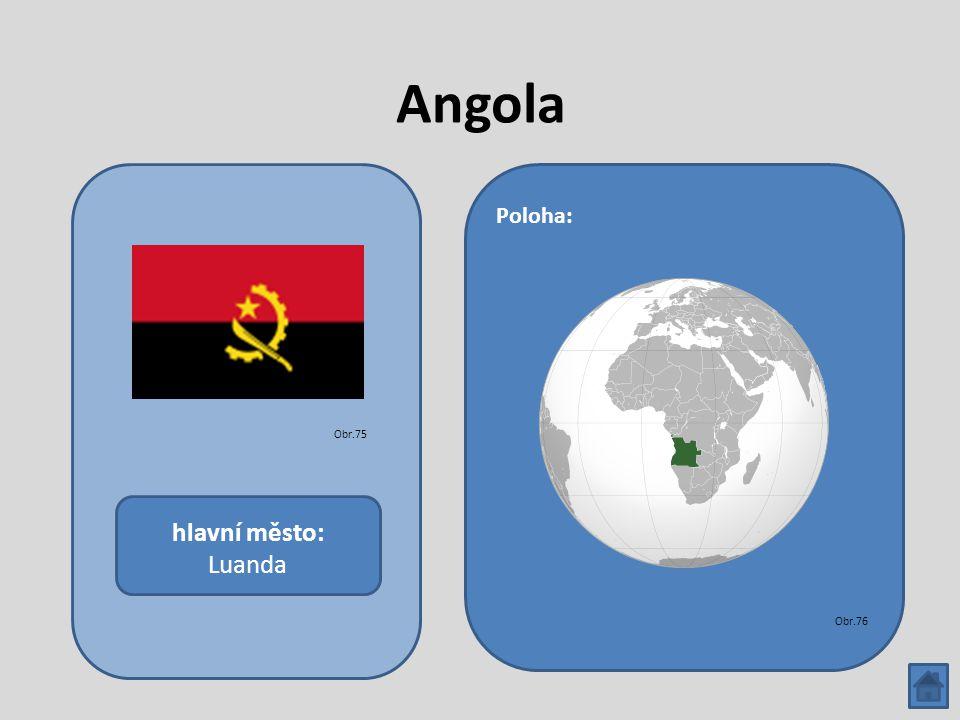 Angola hlavní město: Luanda Poloha: Obr.75 Obr.76