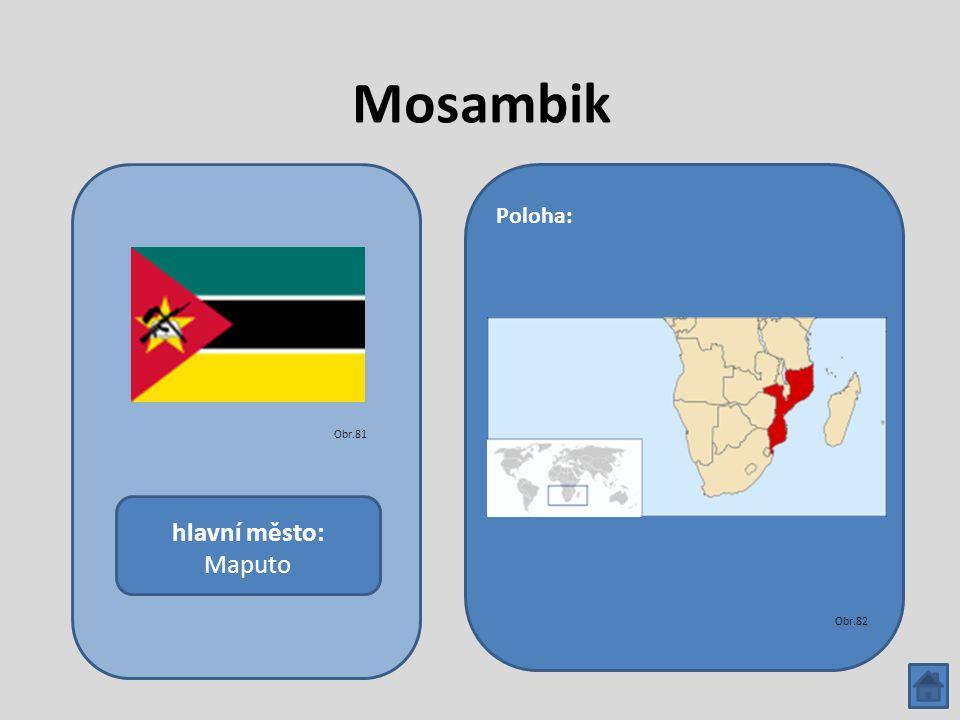 Mosambik hlavní město: Maputo Poloha: Obr.81 Obr.82