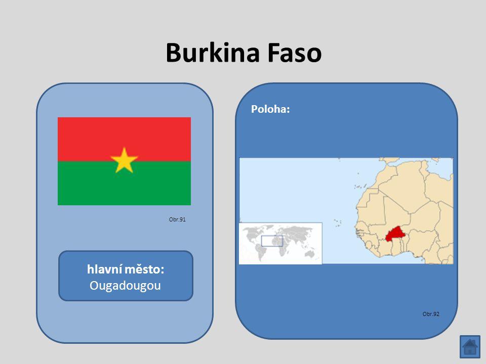 Burkina Faso hlavní město: Ougadougou Poloha: Obr.91 Obr.92
