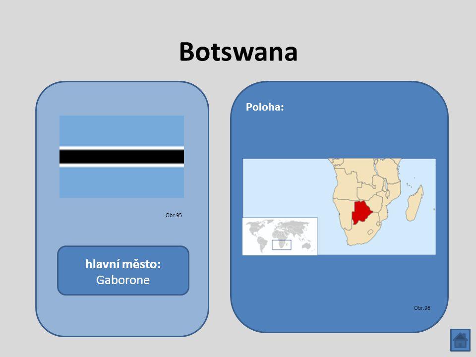Botswana hlavní město: Gaborone Poloha: Obr.95 Obr.96