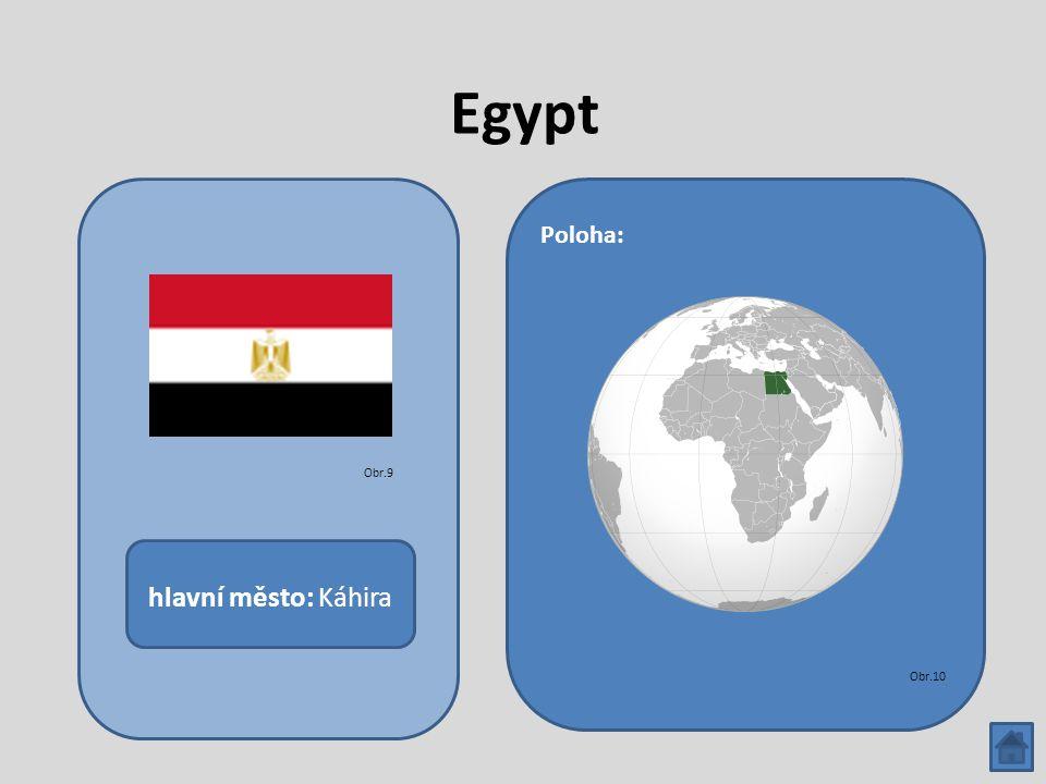 Egypt hlavní město: Káhira Poloha: Obr.9 Obr.10