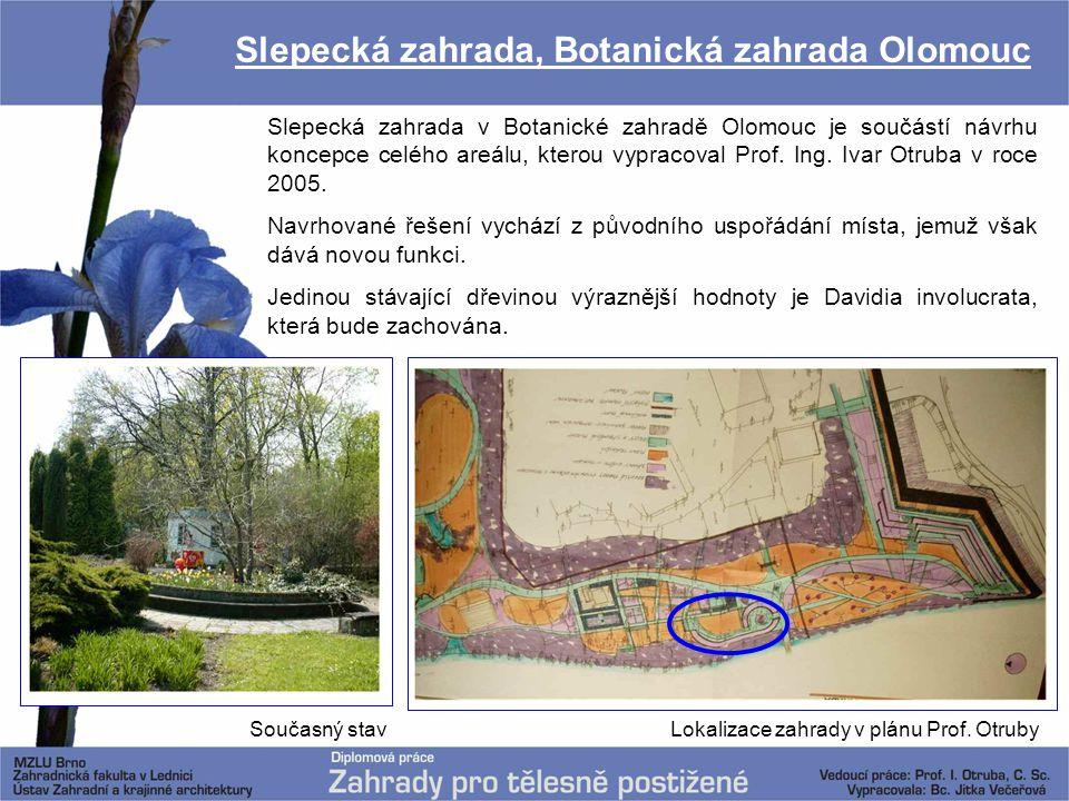 Slepecká zahrada, Botanická zahrada Olomouc Slepecká zahrada v Botanické zahradě Olomouc je součástí návrhu koncepce celého areálu, kterou vypracoval