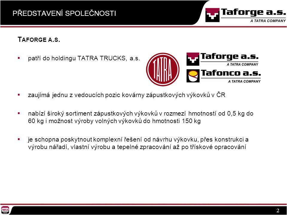 PŘEDSTAVENÍ SPOLEČNOSTI 2 T AFORGE A. S.  patří do holdingu TATRA TRUCKS, a.s.