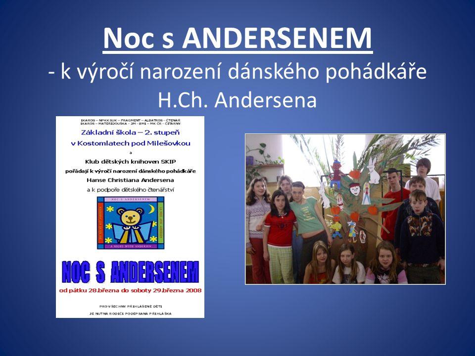 Noc s ANDERSENEM - k výročí narození dánského pohádkáře H.Ch. Andersena