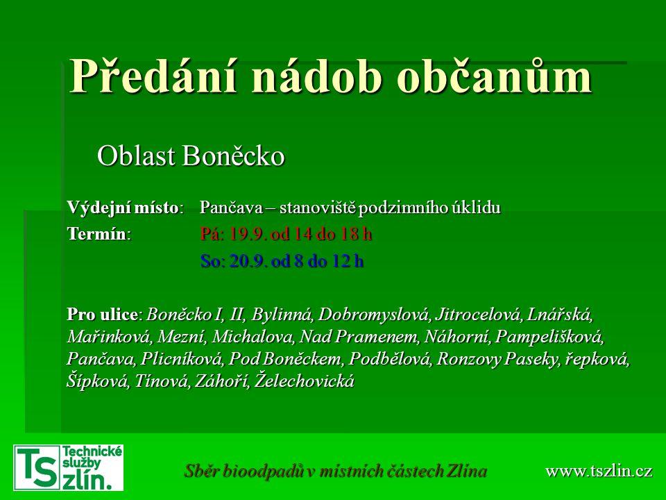 www.tszlin.cz Sběr bioodpadů na Boněcku
