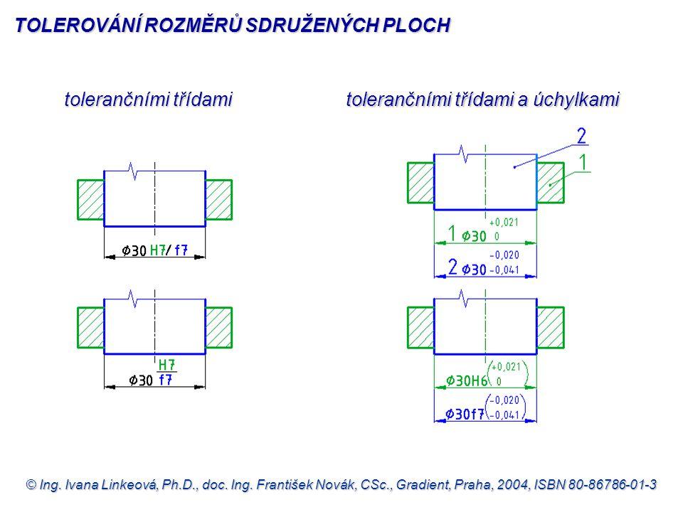 © Ing. Ivana Linkeová, Ph.D., doc. Ing. František Novák, CSc., Gradient, Praha, 2004, ISBN 80-86786-01-3 tolerančními třídami tolerančními třídami a ú