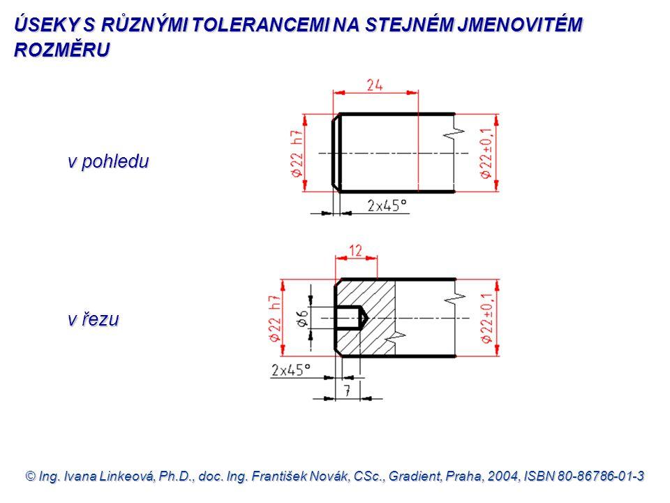 © Ing. Ivana Linkeová, Ph.D., doc. Ing. František Novák, CSc., Gradient, Praha, 2004, ISBN 80-86786-01-3 v pohledu v pohledu v řezu v řezu ÚSEKY S RŮZ