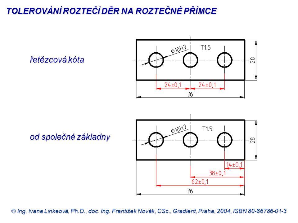 © Ing. Ivana Linkeová, Ph.D., doc. Ing. František Novák, CSc., Gradient, Praha, 2004, ISBN 80-86786-01-3 řetězcová kóta řetězcová kóta od společné zák