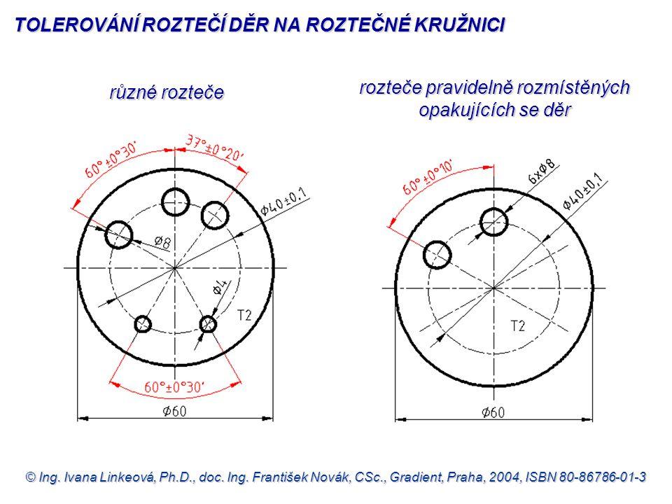 © Ing. Ivana Linkeová, Ph.D., doc. Ing. František Novák, CSc., Gradient, Praha, 2004, ISBN 80-86786-01-3 různé rozteče různé rozteče rozteče pravideln