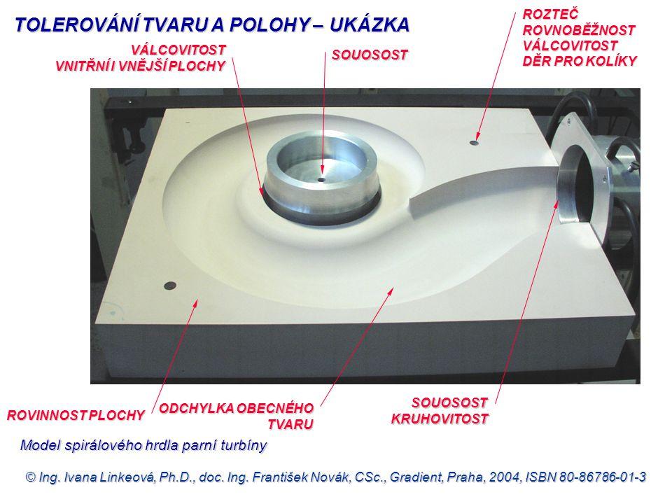 © Ing. Ivana Linkeová, Ph.D., doc. Ing. František Novák, CSc., Gradient, Praha, 2004, ISBN 80-86786-01-3 ROVINNOST PLOCHY ROZTEČ ROVNOBĚŽNOST VÁLCOVIT