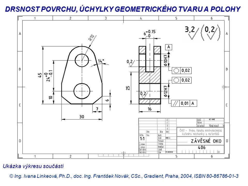 © Ing. Ivana Linkeová, Ph.D., doc. Ing. František Novák, CSc., Gradient, Praha, 2004, ISBN 80-86786-01-3 DRSNOST POVRCHU, ÚCHYLKY GEOMETRICKÉHO TVARU