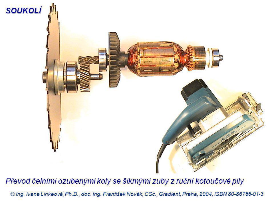 © Ing. Ivana Linkeová, Ph.D., doc. Ing. František Novák, CSc., Gradient, Praha, 2004, ISBN 80-86786-01-3 Převod čelními ozubenými koly se šikmými zuby