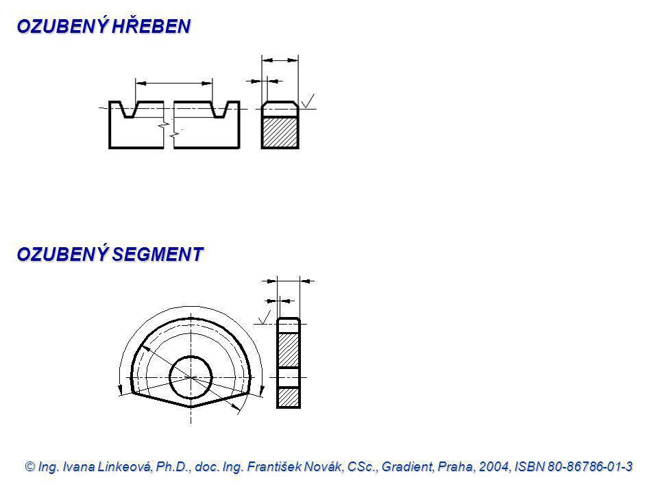 © Ing. Ivana Linkeová, Ph.D., doc. Ing. František Novák, CSc., Gradient, Praha, 2004, ISBN 80-86786-01-3 OZUBENÝ SEGMENT OZUBENÝ HŘEBEN
