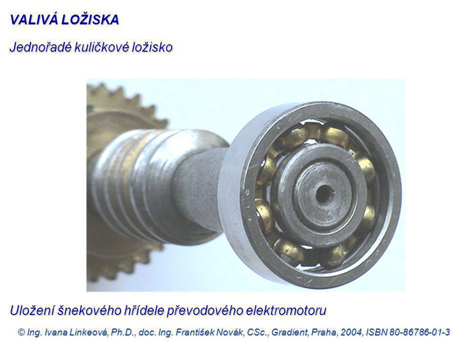 © Ing. Ivana Linkeová, Ph.D., doc. Ing. František Novák, CSc., Gradient, Praha, 2004, ISBN 80-86786-01-3 Jednořadé kuličkové ložisko VALIVÁ LOŽISKA Ul
