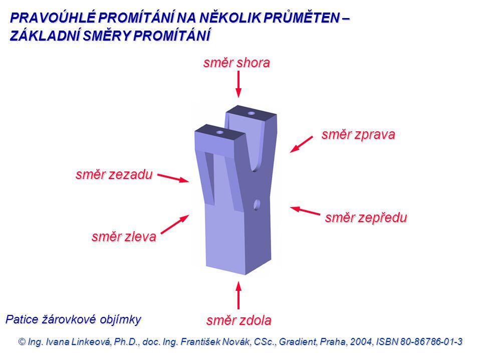© Ing. Ivana Linkeová, Ph.D., doc. Ing. František Novák, CSc., Gradient, Praha, 2004, ISBN 80-86786-01-3 směr zepředu směr zepředu směr zleva směr sho