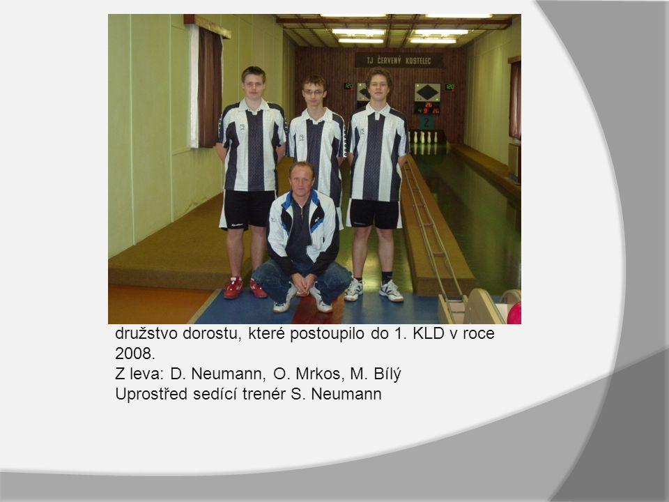 družstvo dorostu, které postoupilo do 1. KLD v roce 2008.