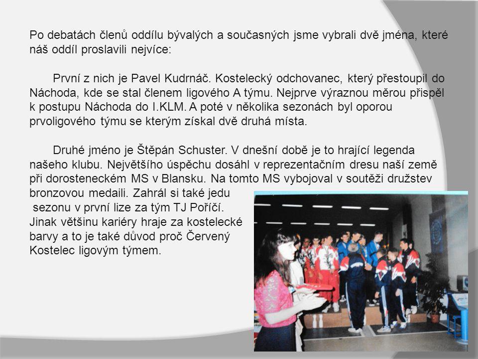 Po debatách členů oddílu bývalých a současných jsme vybrali dvě jména, které náš oddíl proslavili nejvíce: První z nich je Pavel Kudrnáč.