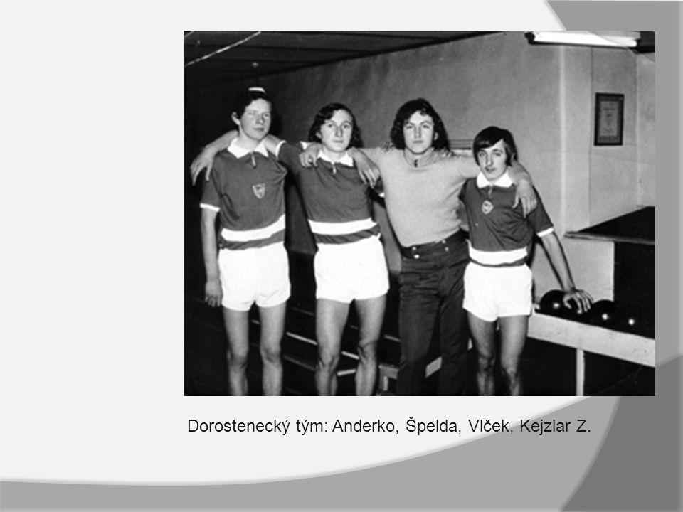 Významné milníky družstev dospělích: Již na Bedenské kuželně se hrála soutěž pod názvem liga.