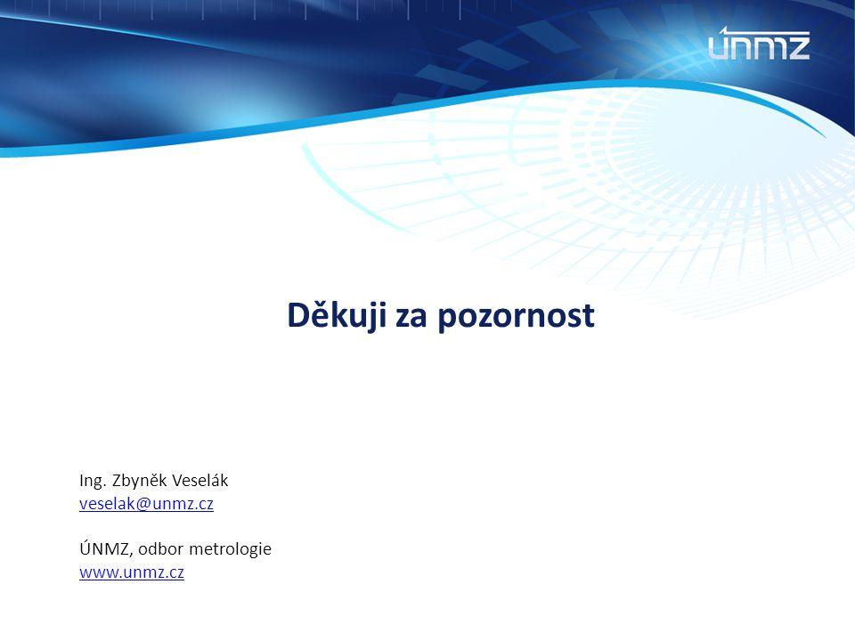 Ing. Zbyněk Veselák veselak@unmz.cz ÚNMZ, odbor metrologie www.unmz.cz Děkuji za pozornost