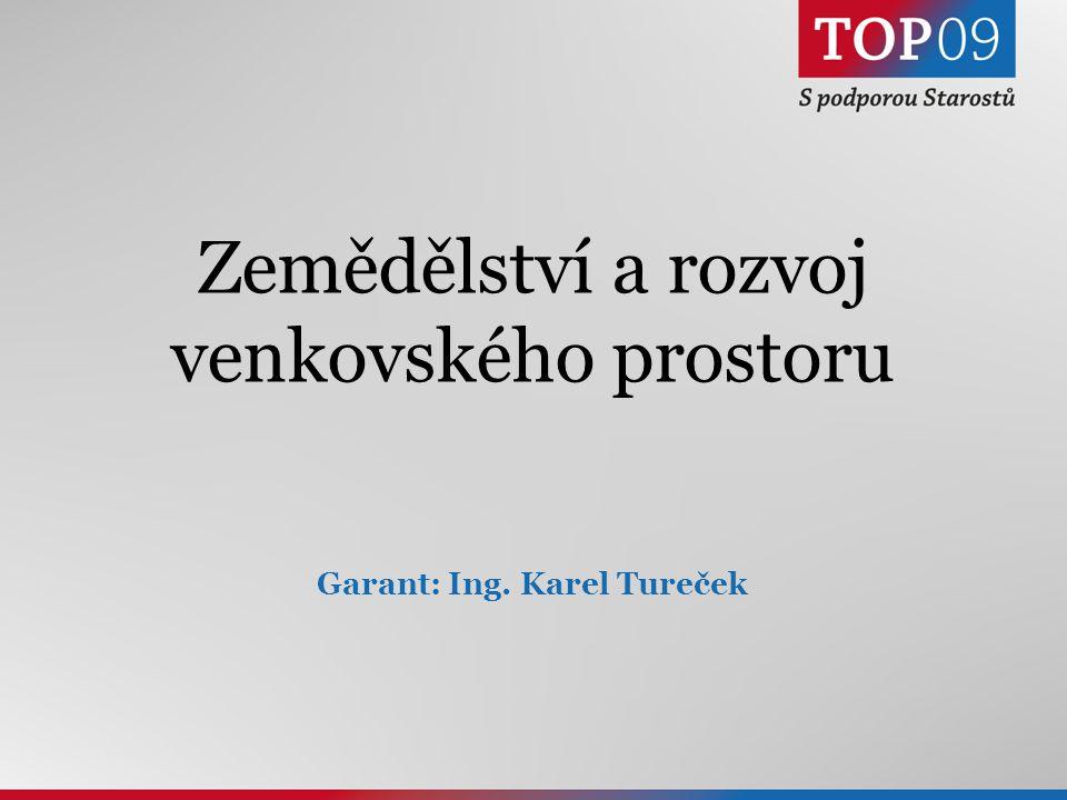 6 Zemědělství a rozvoj venkovského prostoru Garant: Ing. Karel Tureček