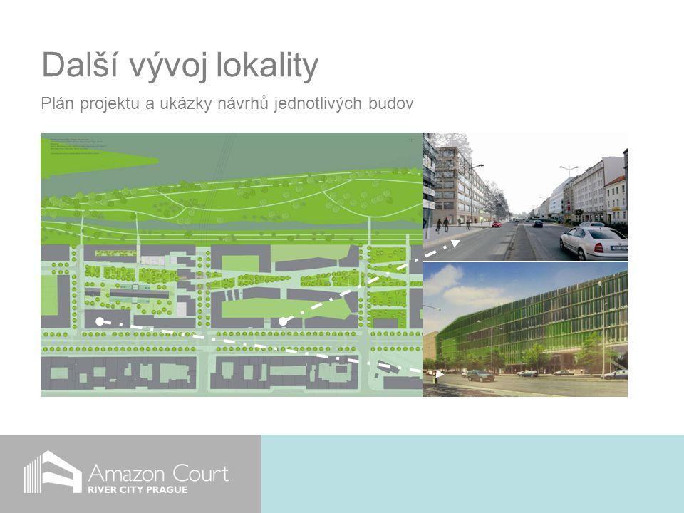 Další vývoj lokality Plán projektu a ukázky návrhů jednotlivých budov