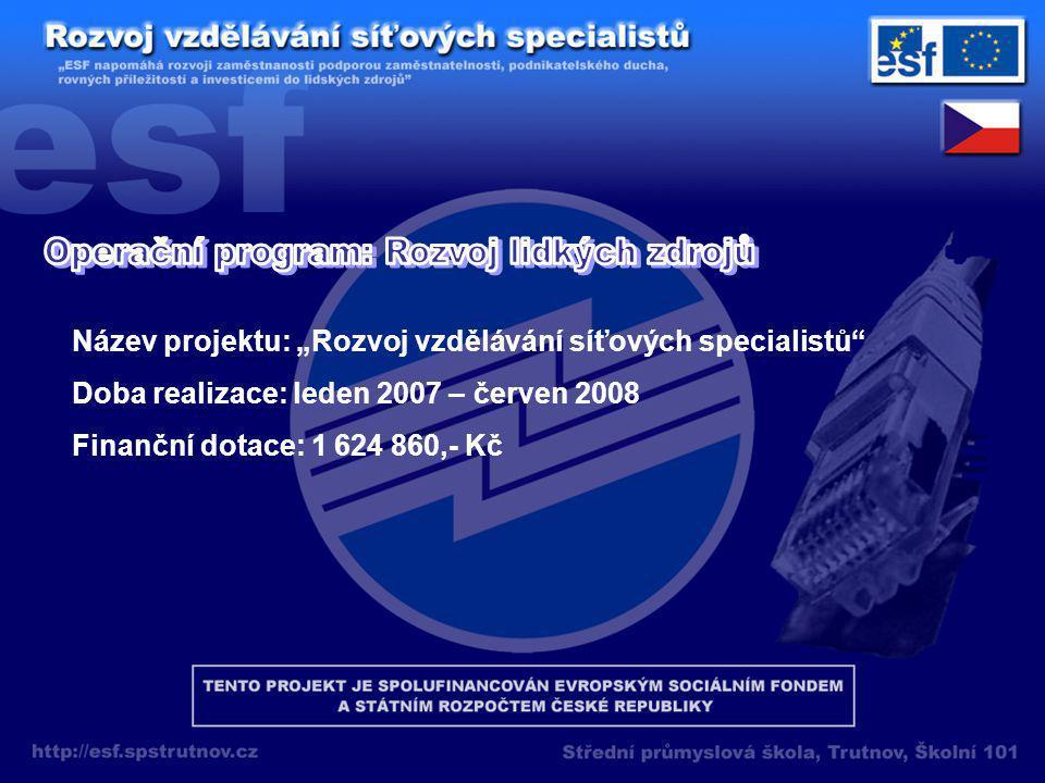 Počítačové sítě Hardware Software Kabeláž Serverové služby Virtualizace Práce s virtuálním PC a serverem