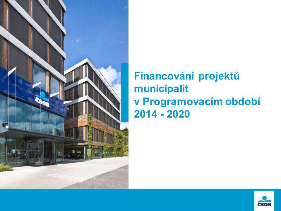 Financování projektů municipalit v Programovacím období 2014 - 2020