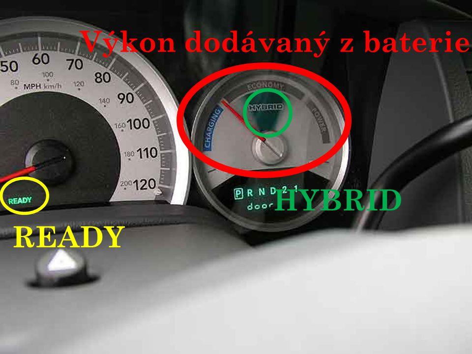READY Výkon dodávaný z baterie HYBRID