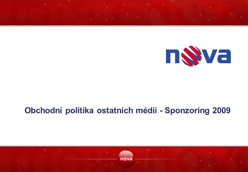 Obchodní politika ostatních médií - Sponzoring 2009