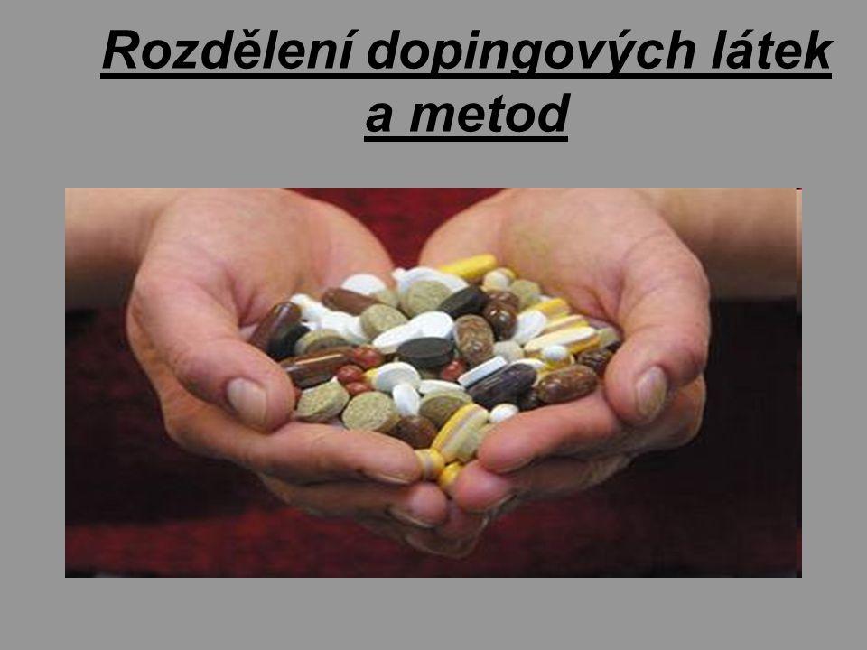Rozdělení dopingových látek a metod