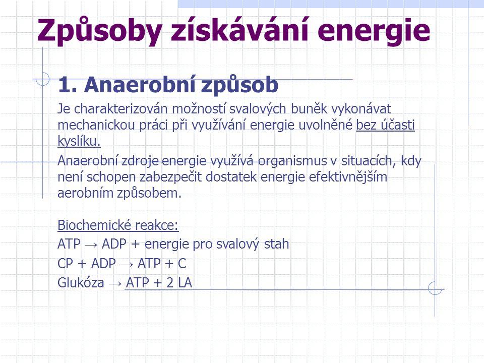 Způsoby získávání energie 1.