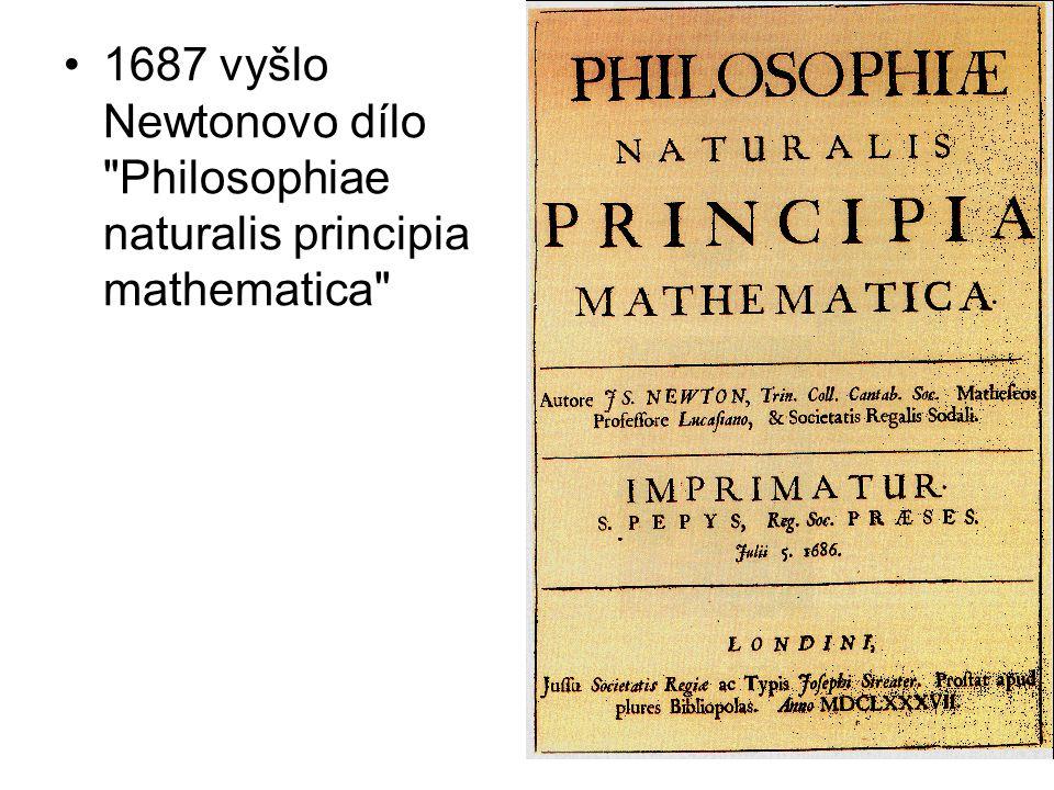 1687 vyšlo Newtonovo dílo