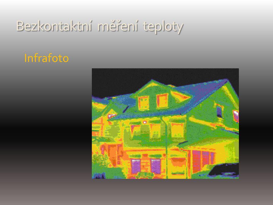 Bezkontaktní měření teploty Infrafoto