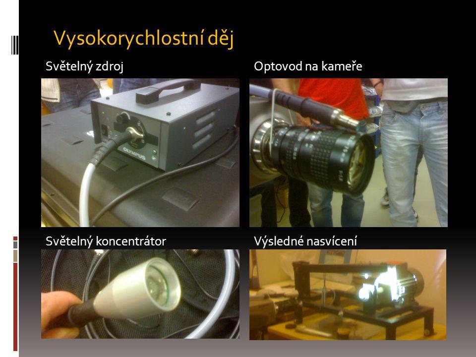 Světelný zdrojOptovod na kameře Světelný koncentrátorVýsledné nasvícení