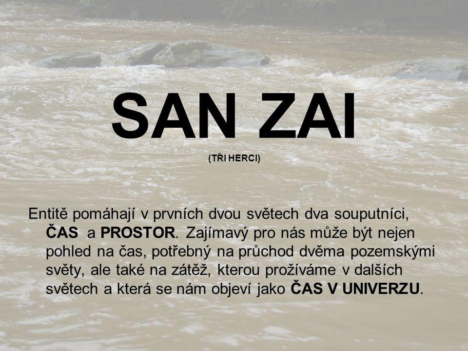 SAN ZAI (TŘI HERCI) Entitě pomáhají v prvních dvou světech dva souputníci, ČAS a PROSTOR.