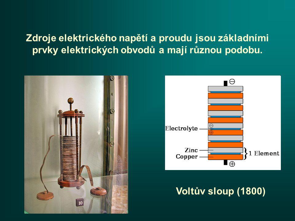 Zdroje elektrického napětí a proudu jsou základními prvky elektrických obvodů a mají různou podobu.