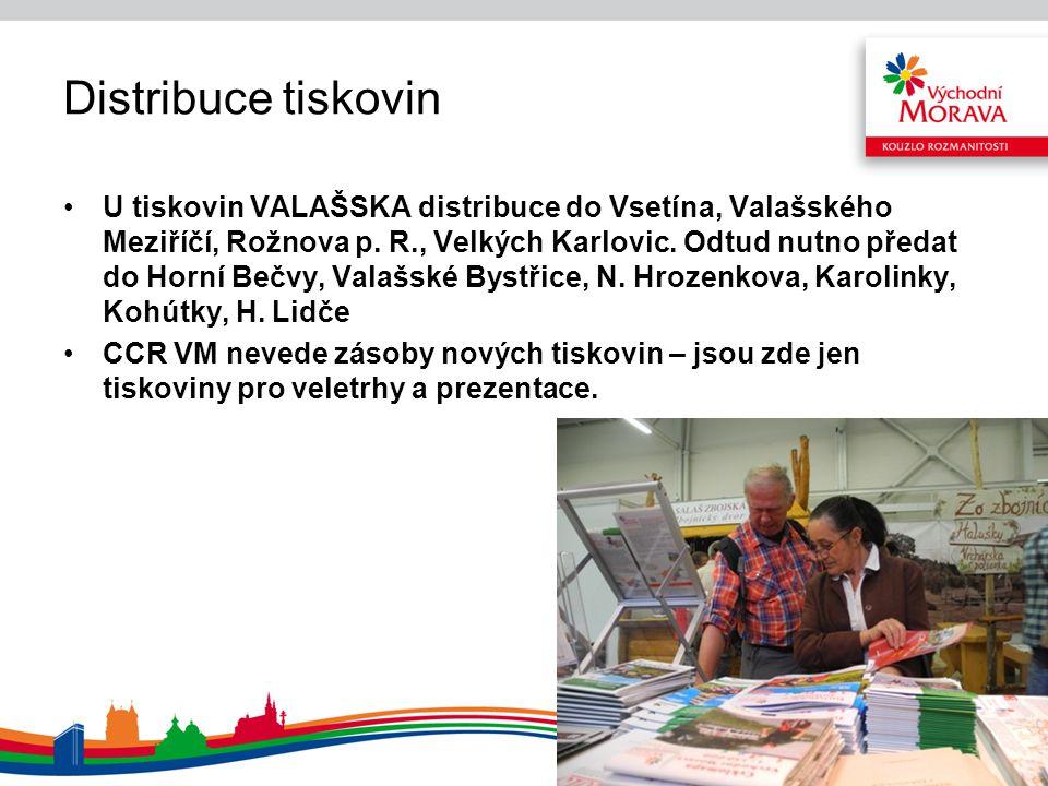 Distribuce tiskovin U tiskovin VALAŠSKA distribuce do Vsetína, Valašského Meziříčí, Rožnova p. R., Velkých Karlovic. Odtud nutno předat do Horní Bečvy