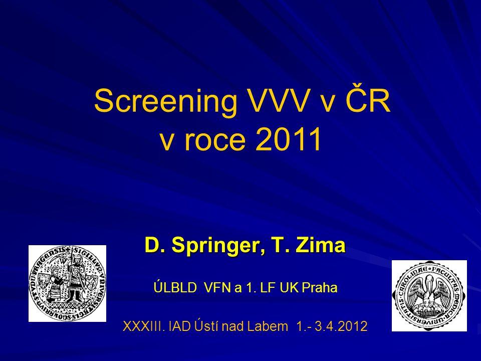 D.Springer, T. Zima ÚLBLD VFN a 1. LF UK Praha XXXIII.
