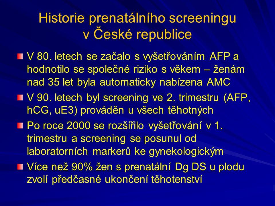 Historie prenatálního screeningu v České republice V 80.
