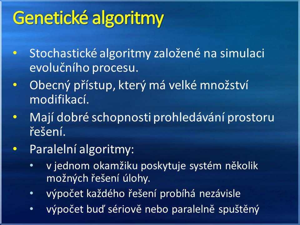 Stochastické algoritmy založené na simulaci evolučního procesu.