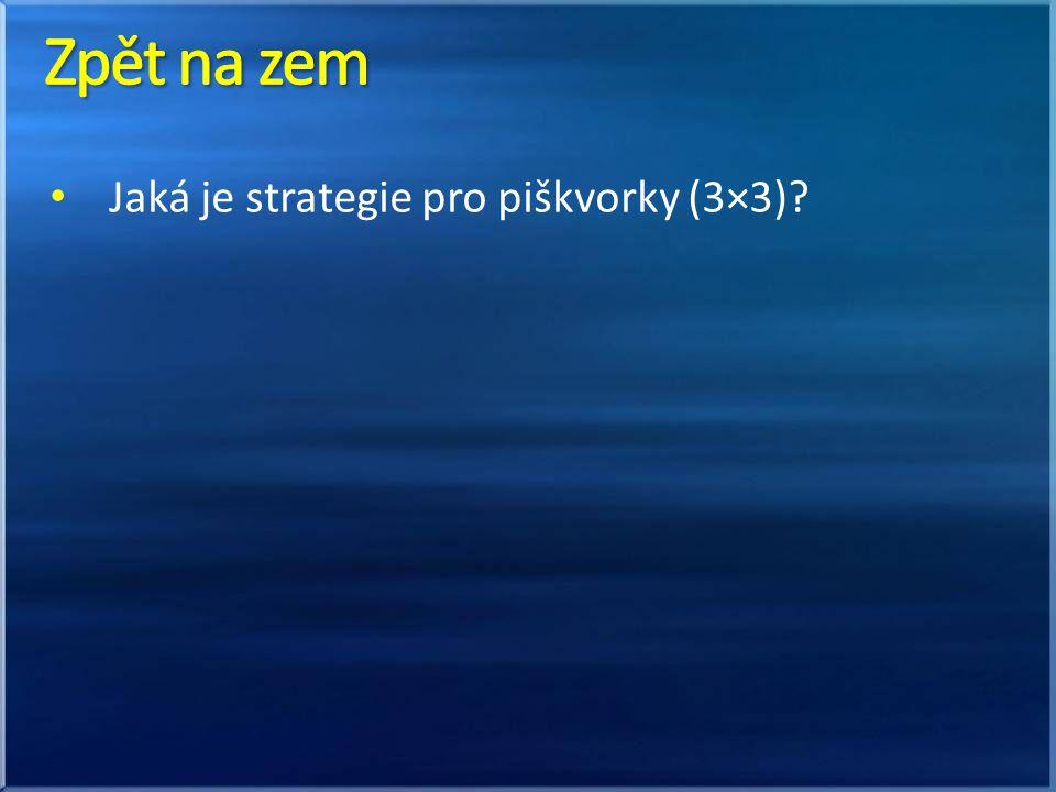 Jaká je strategie pro piškvorky (3×3)?