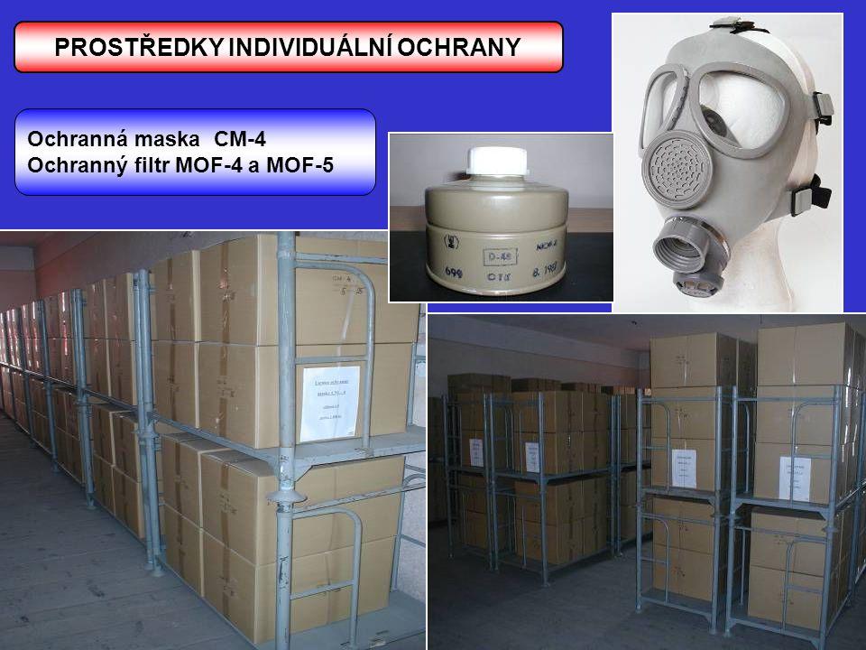PROSTŘEDKY INDIVIDUÁLNÍ OCHRANY Ochranná maska CM-4 Ochranný filtr MOF-4 a MOF-5