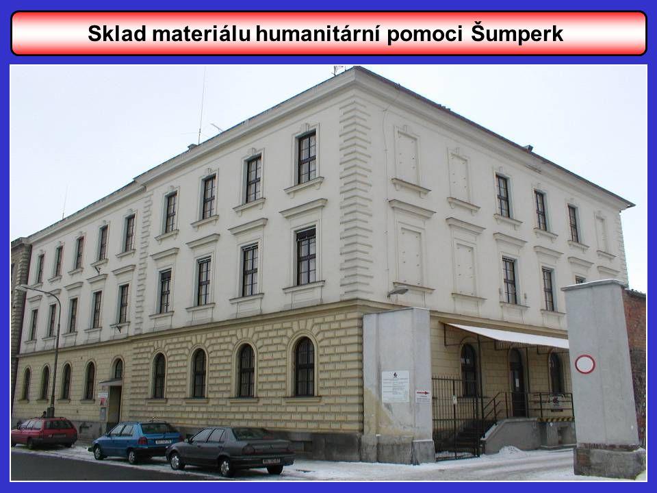 Sklad materiálu humanitární pomoci Šumperk