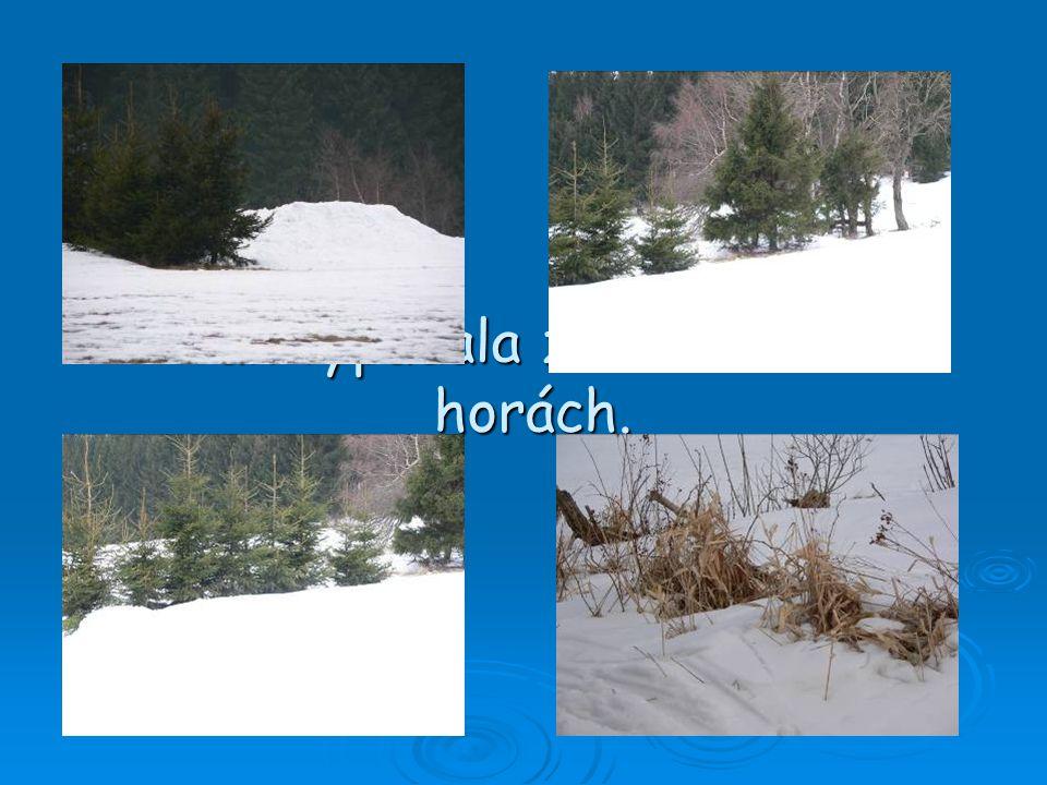 Tak vypadala zima letos na horách.