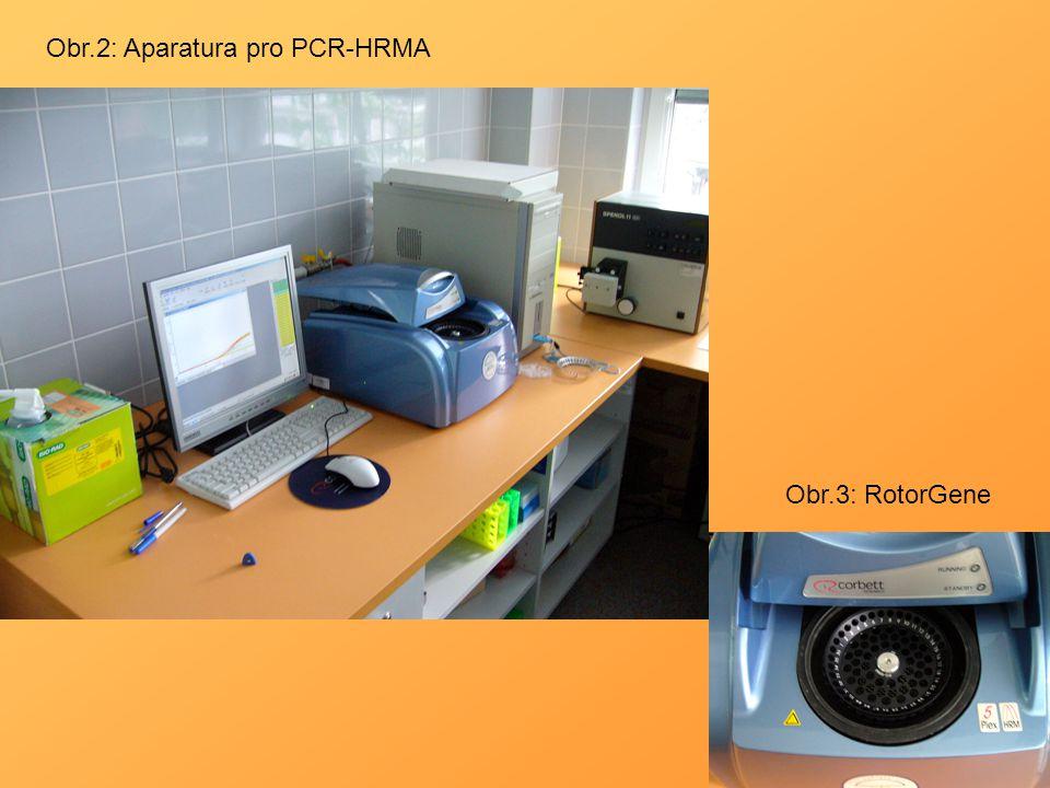 Obr.2: Aparatura pro PCR-HRMA Obr.3: RotorGene