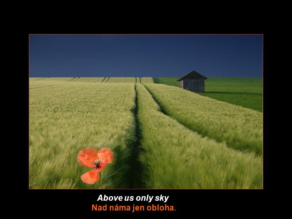 Above us only sky Nad náma jen obloha.